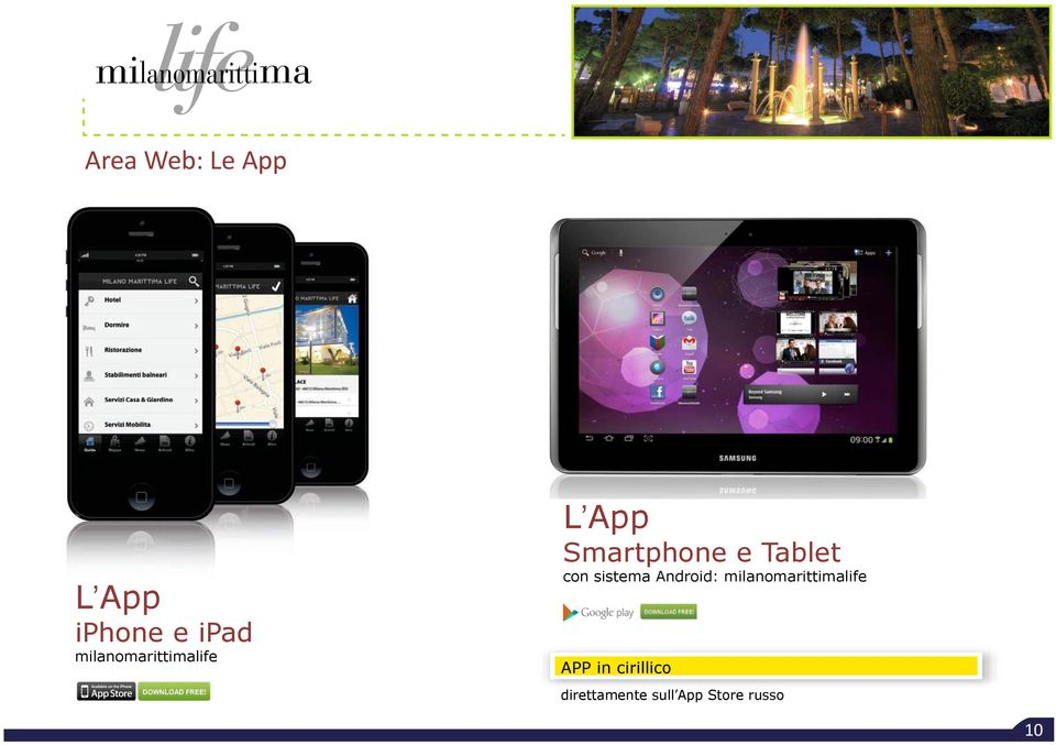 Tablet con sistema Android:
