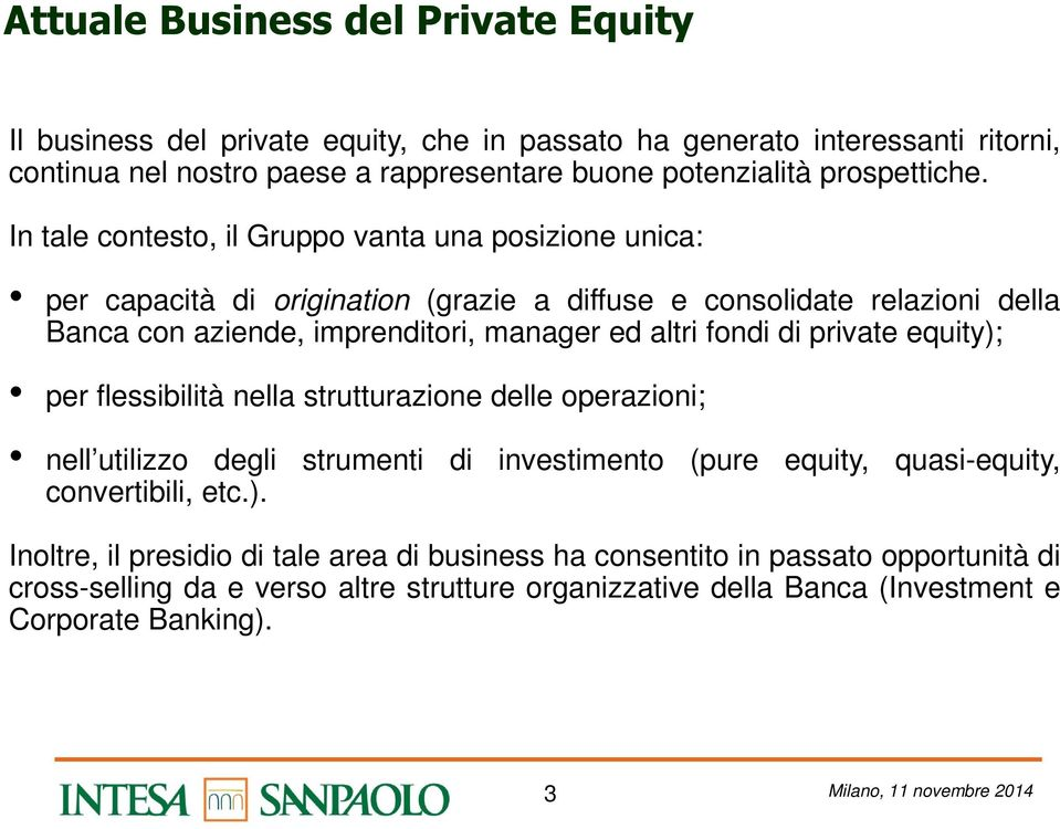 private equity);