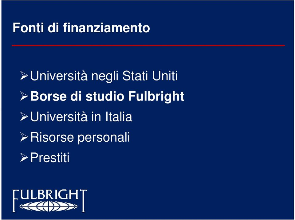 Borse di studio Fulbright