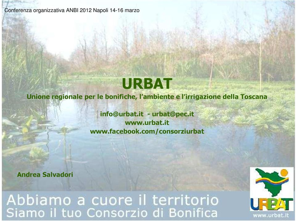 info@urbat.it -urbat@pec.it www.urbat.it www.facebook.