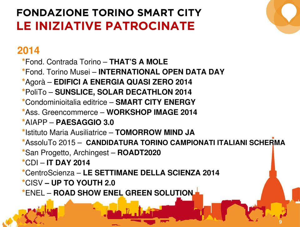 editrice SMART CITY ENERGY *Ass. Greencommerce WORKSHOP IMAGE 2014 *AIAPP PAESAGGIO 3.