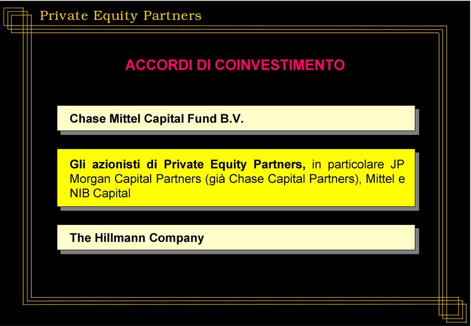 particolare JP Morgan Capital Partners (già Chase