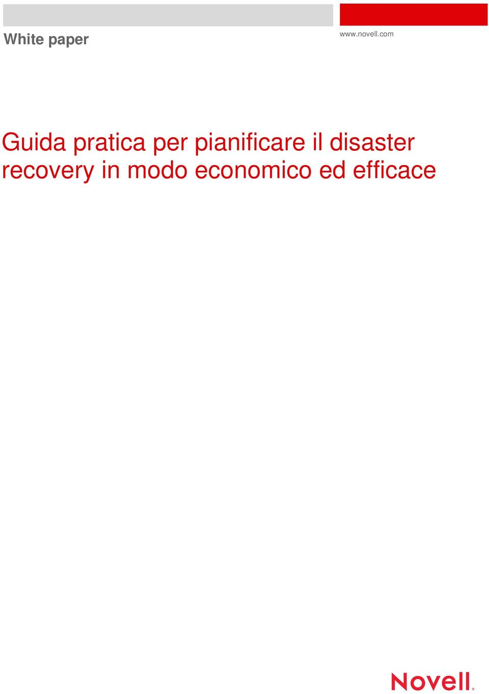 pianificare il disaster