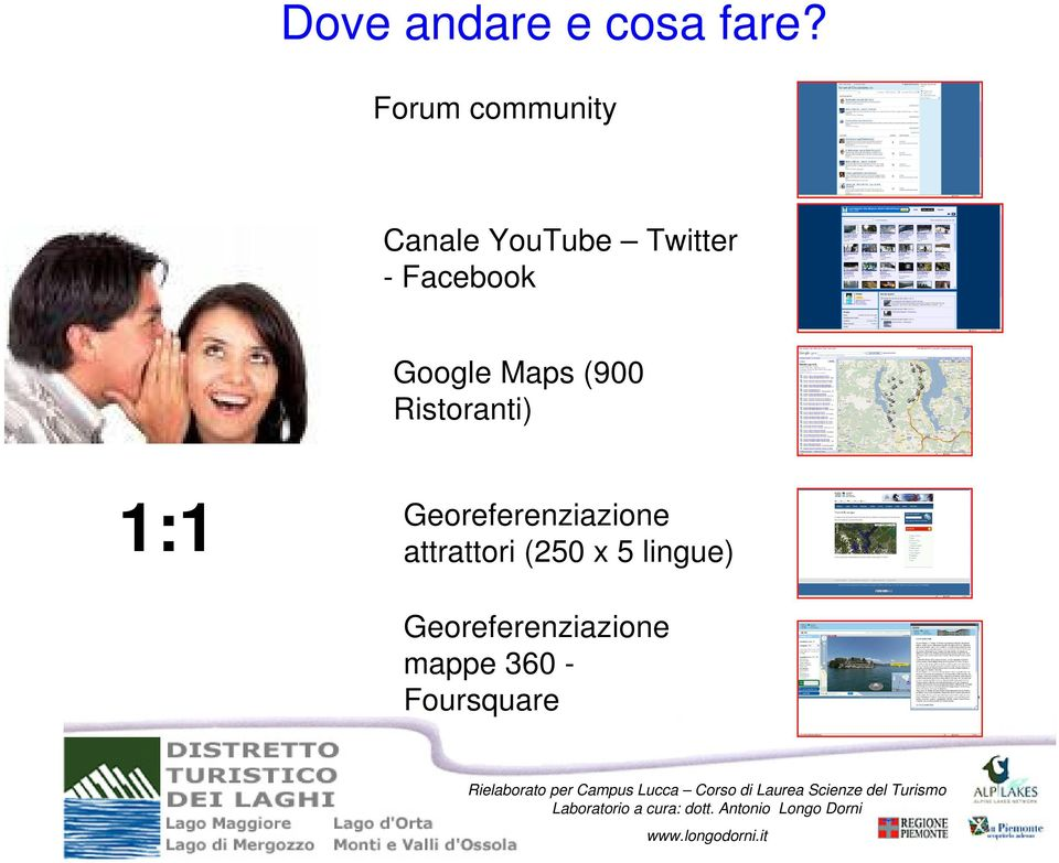 Facebook Google Maps (900 Ristoranti) 1:1