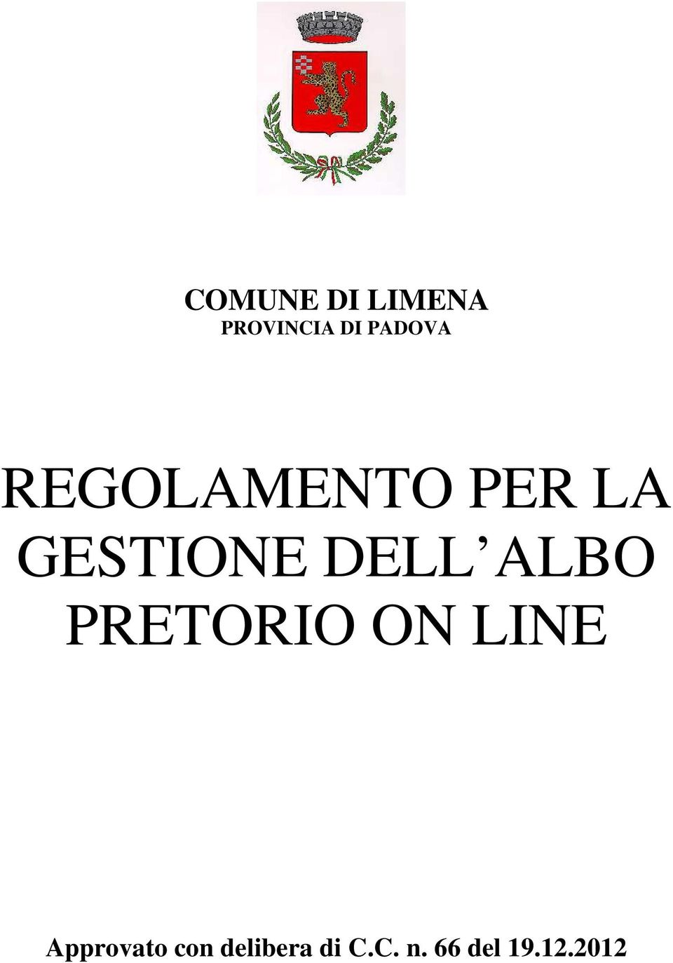 DELL ALBO PRETORIO ON LINE