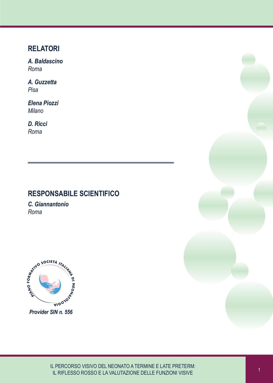Ricci Roma RESPONSABILE SCIENTIFICO C.