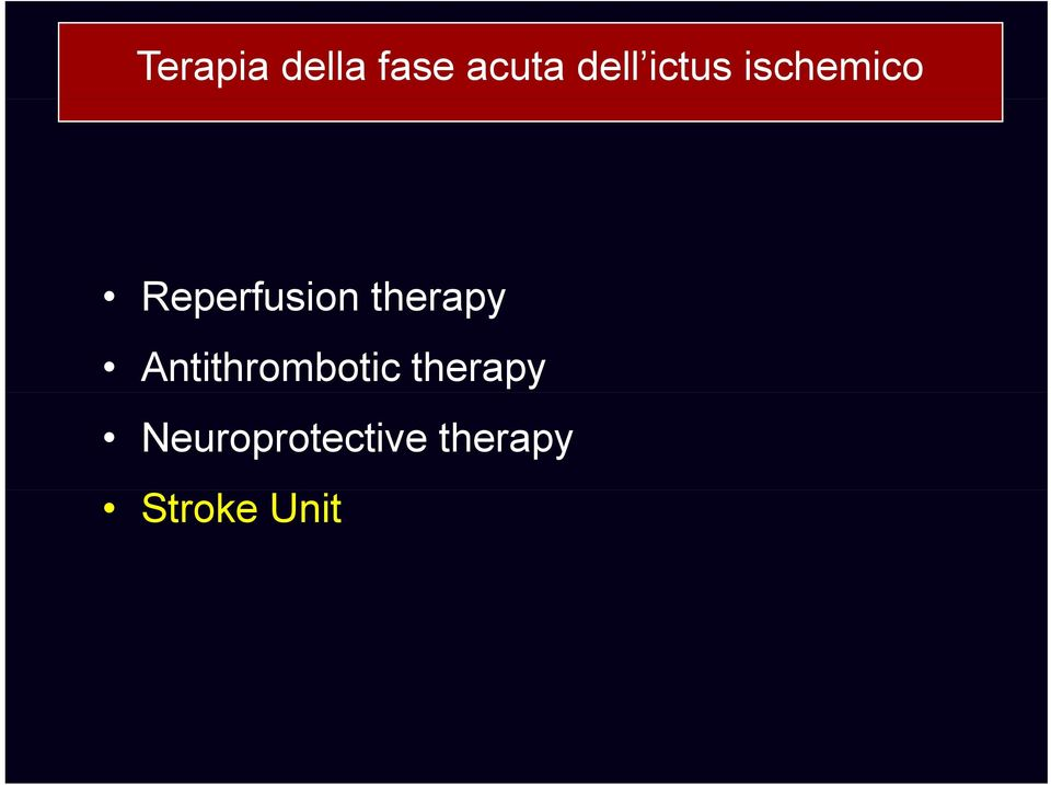 therapy Antithrombotic therapy