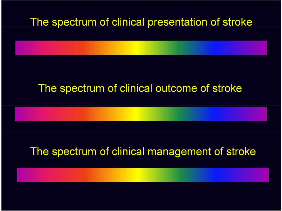 of stroke  management of stroke