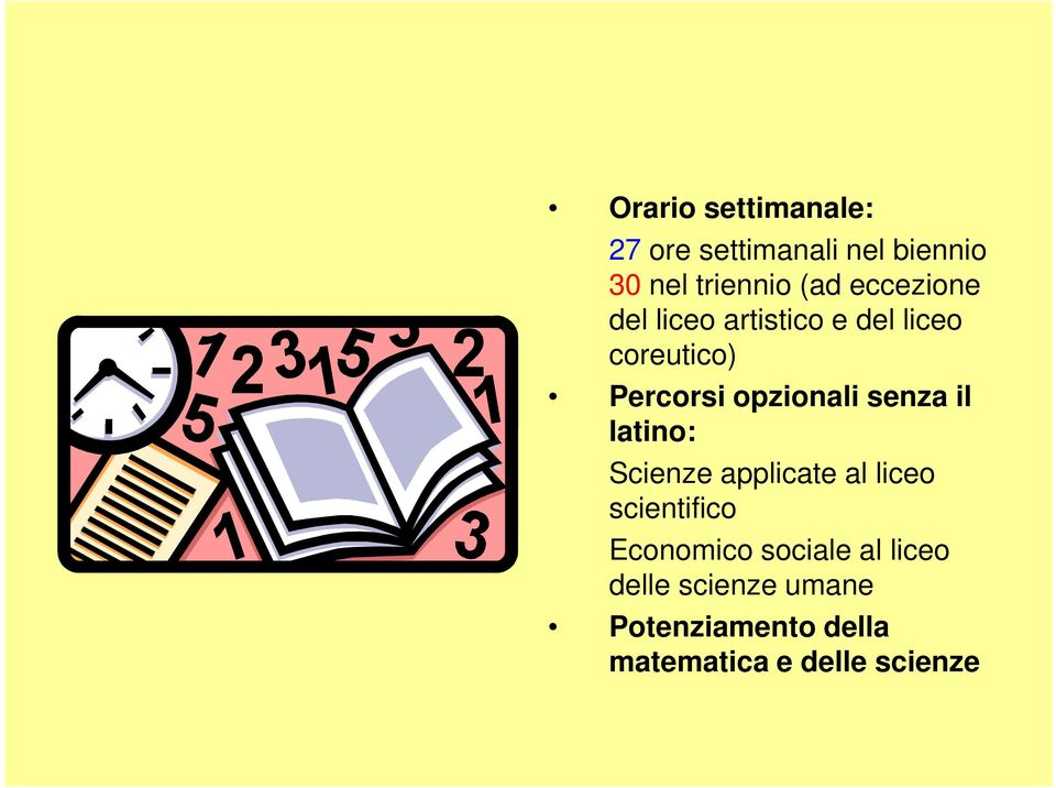 senza il latino: Scienze applicate al liceo scientifico Economico