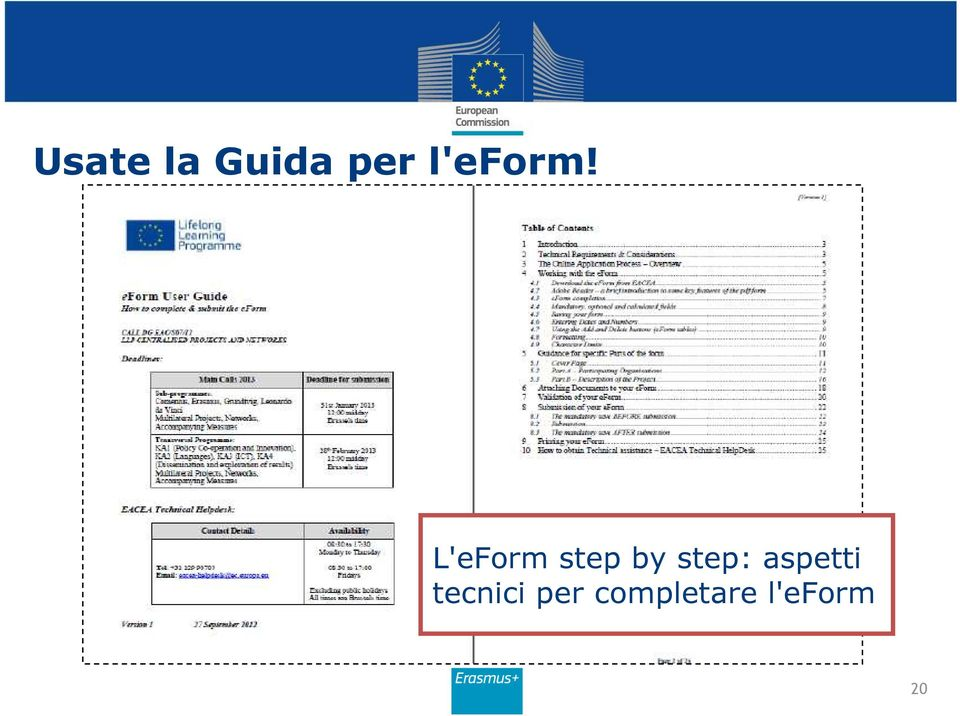 L'eForm step by step: