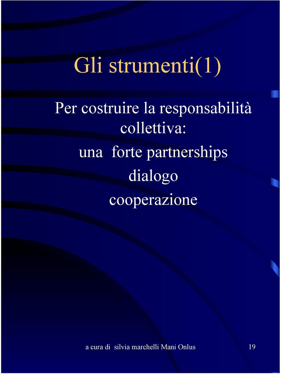 partnerships dialogo cooperazione a