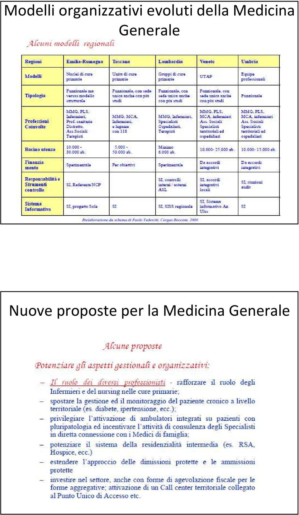 Generale Nuove proposte