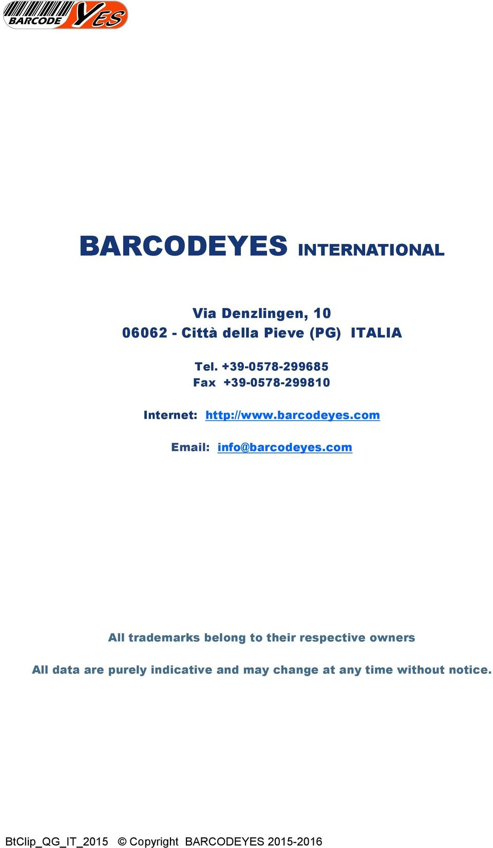 barcodeyes.com Email: info@barcodeyes.