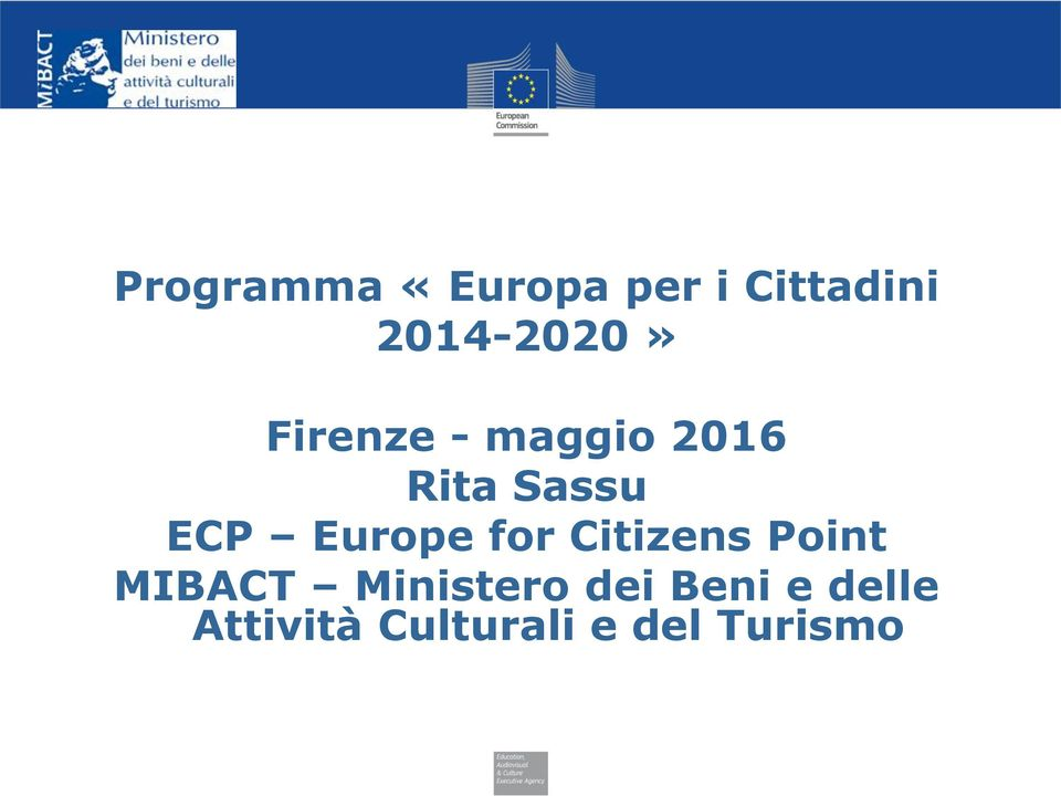 ECP Europe for Citizens Point MIBACT