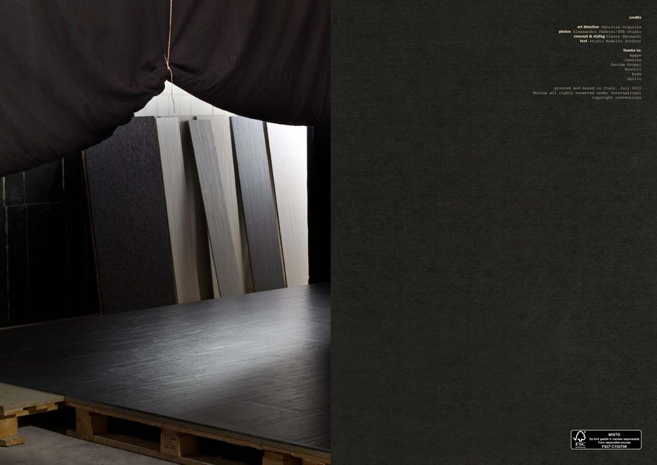 to: Agape Cassina Davide Groppi Minotti Roda Spillo printed and bound in