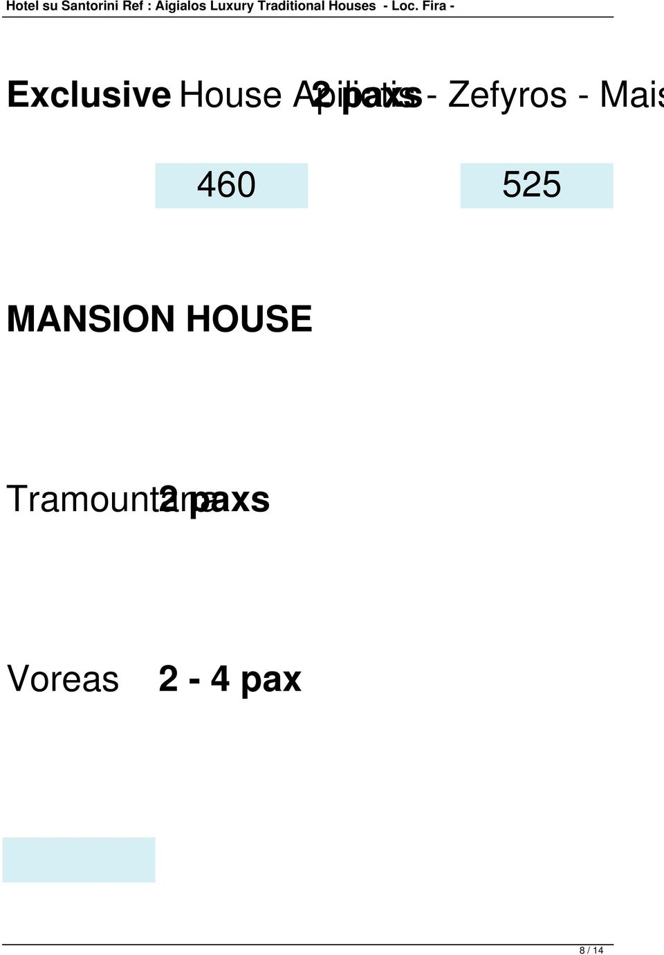 525 MANSION HOUSE