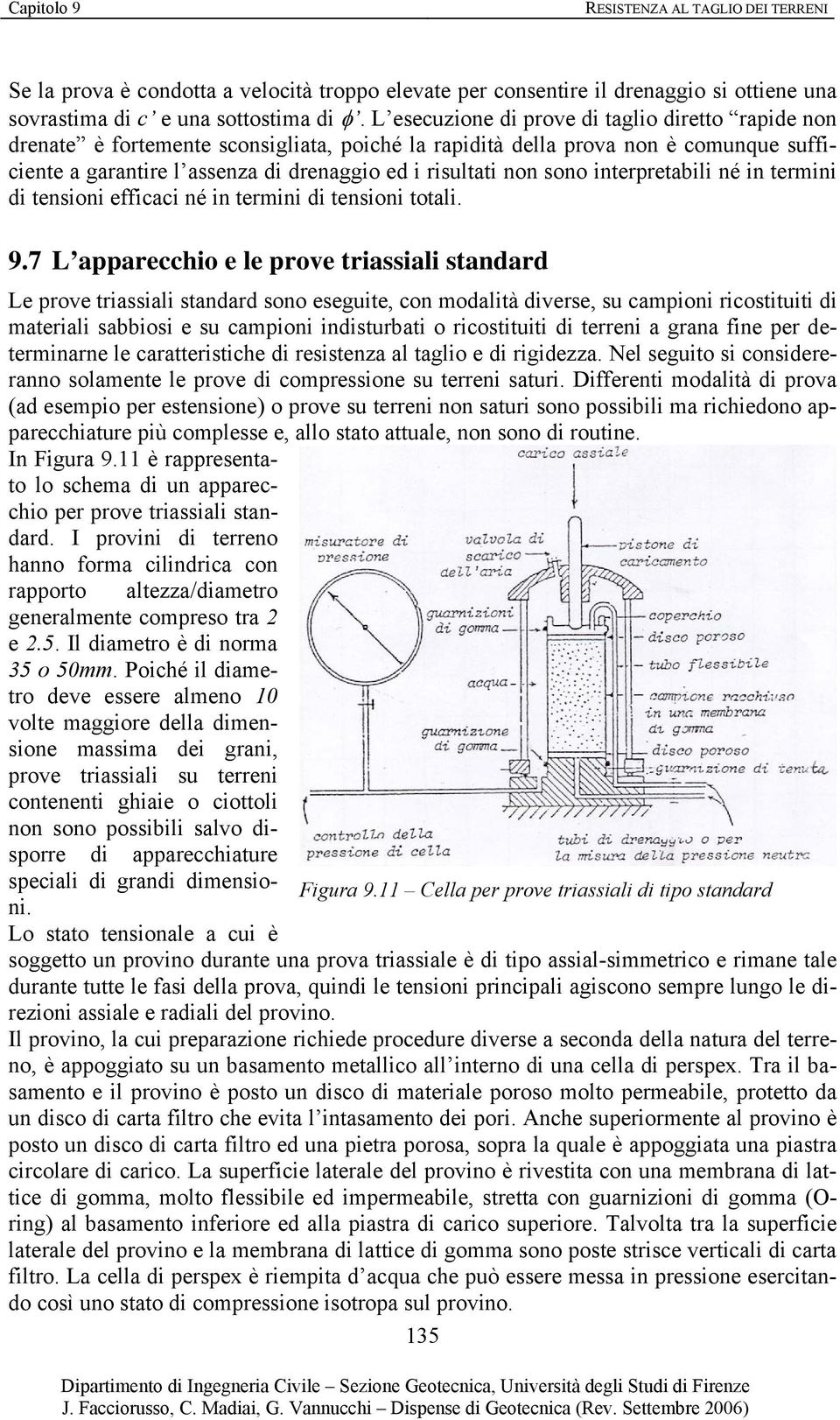 sono interpretabili né in termini di tensioni efficaci né in termini di tensioni totali. 9.