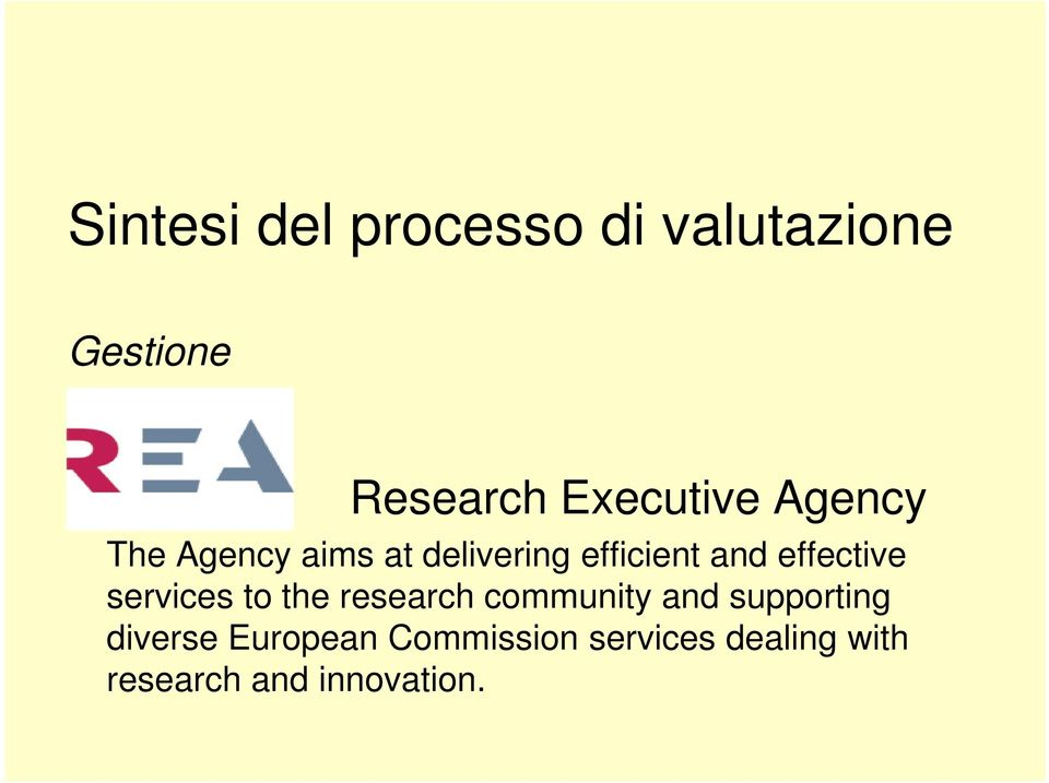 effective services to the research community and supporting