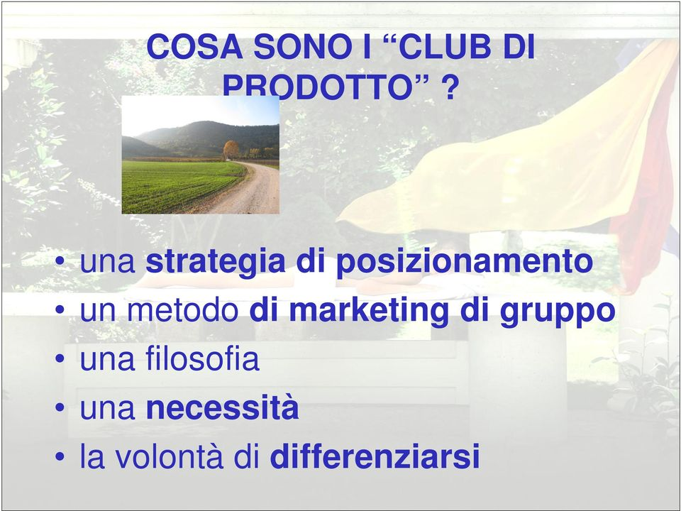 metodo di marketing di gruppo una