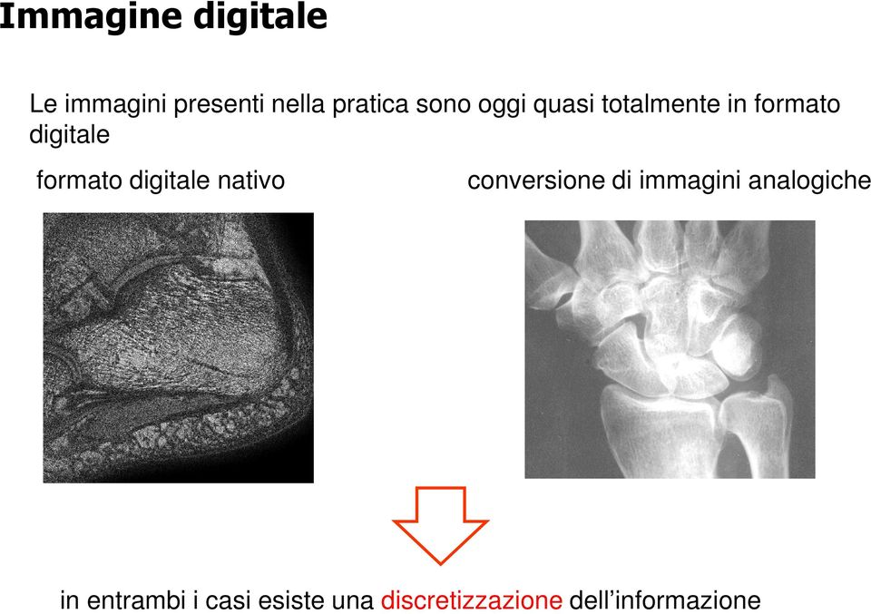 digitale nativo conversione di immagini analogiche in