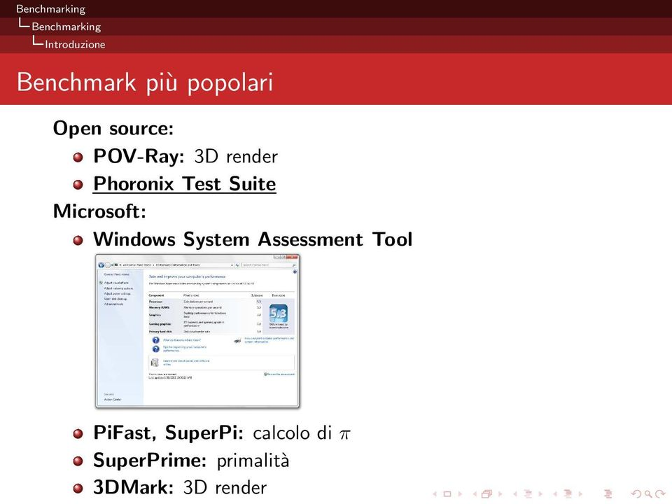 System Assessment Tool PiFast, SuperPi: