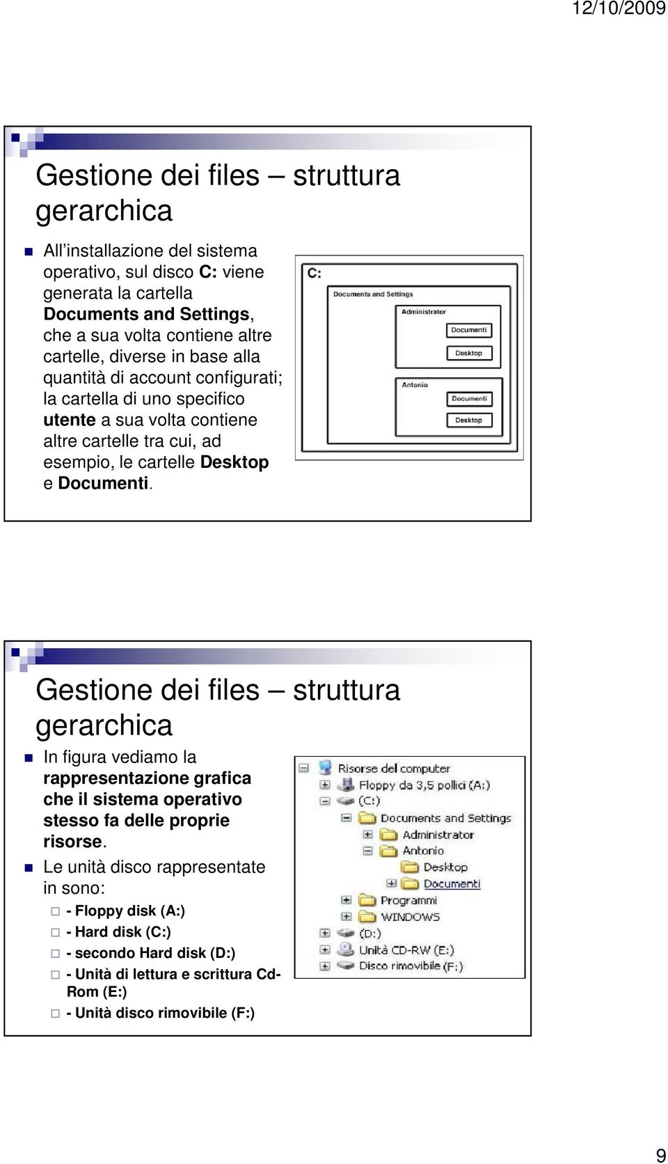 cartelle Desktop e Documenti.