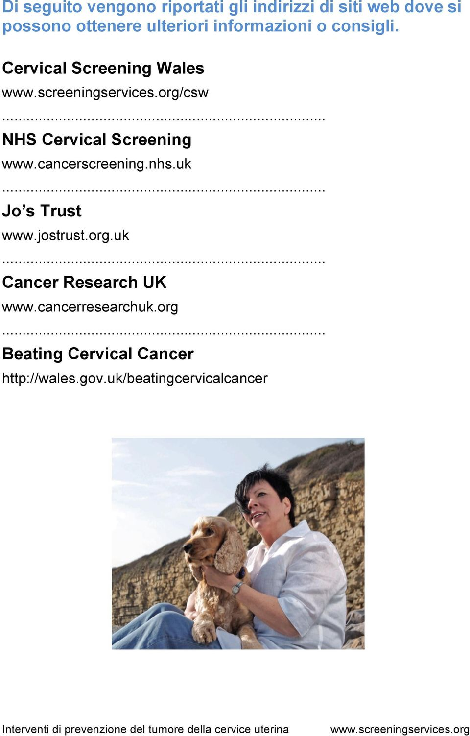 Cervical Screening Wales /csw NHS Cervical Screening www.cancerscreening.nhs.