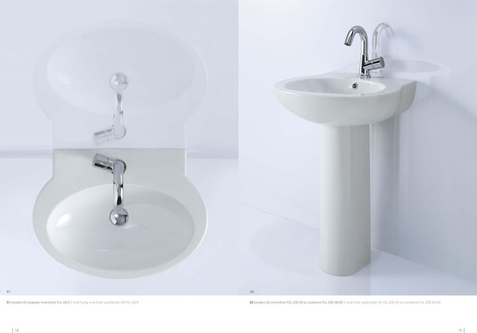 one-hole washbasin 60 FUL 60/S 02.