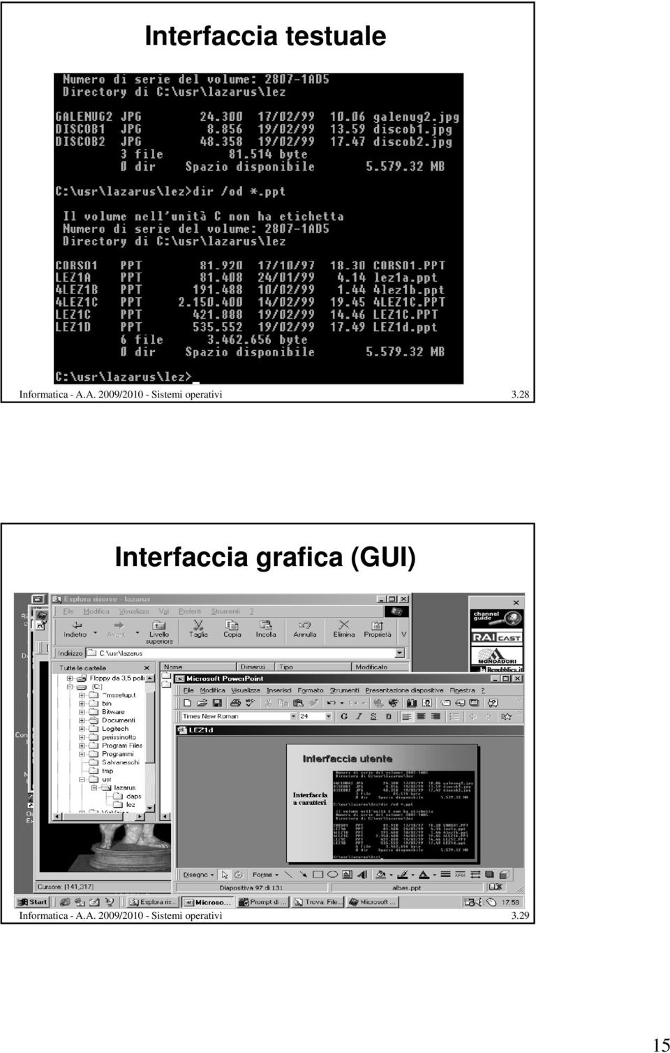 28 Interfaccia grafica (GUI)