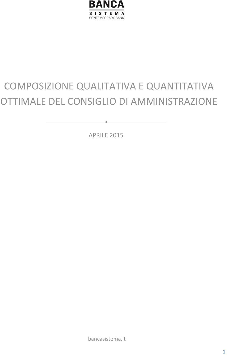 QUANTITATIVA OTTIMALE