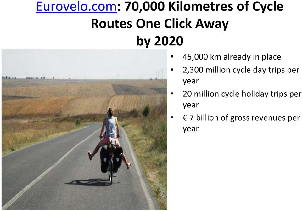 by 2020 45,000 km already in place 2,300 million