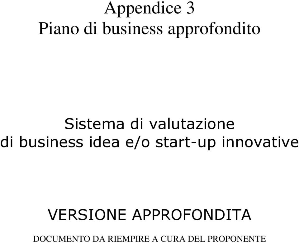 e/o start-up innovative VERSIONE