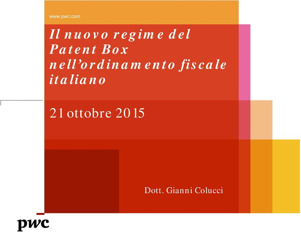 Patent Box nell ordinamento