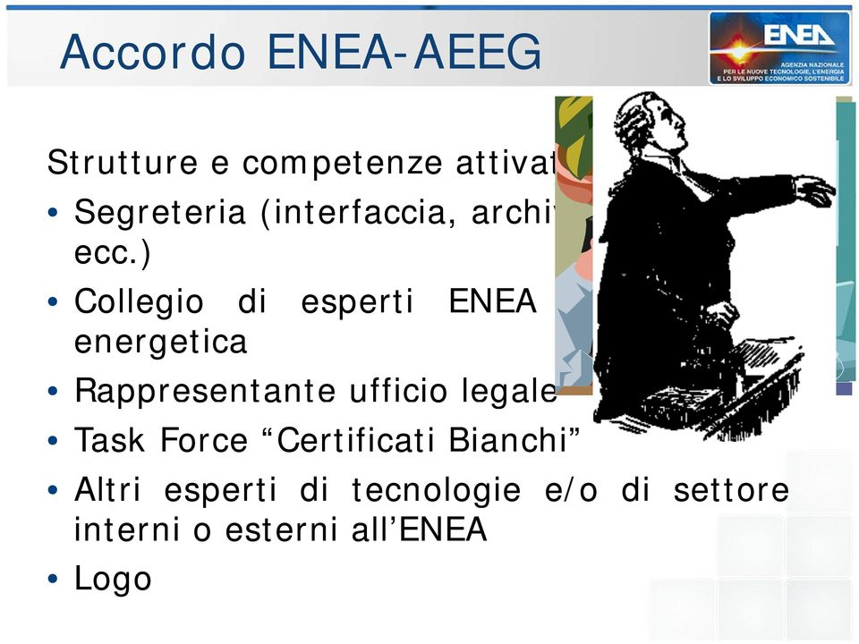 ) Collegio di esperti ENEA in efficienza energetica Rappresentante a