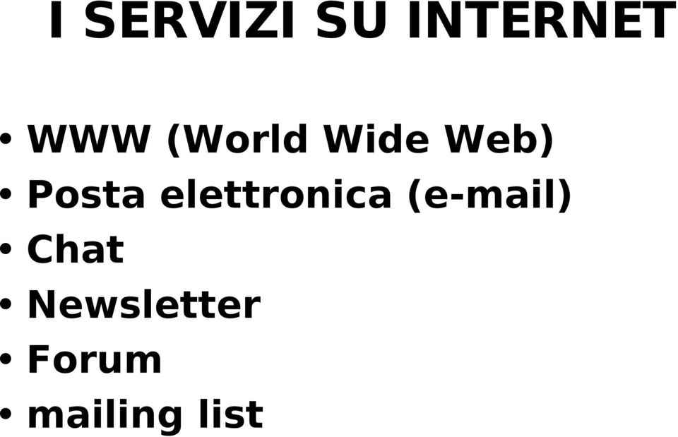 elettronica (e-mail) Chat