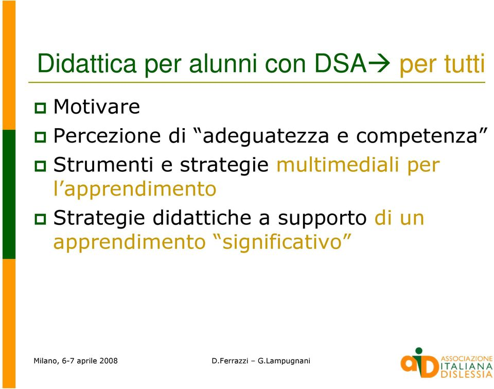 strategie multimediali per l apprendimento