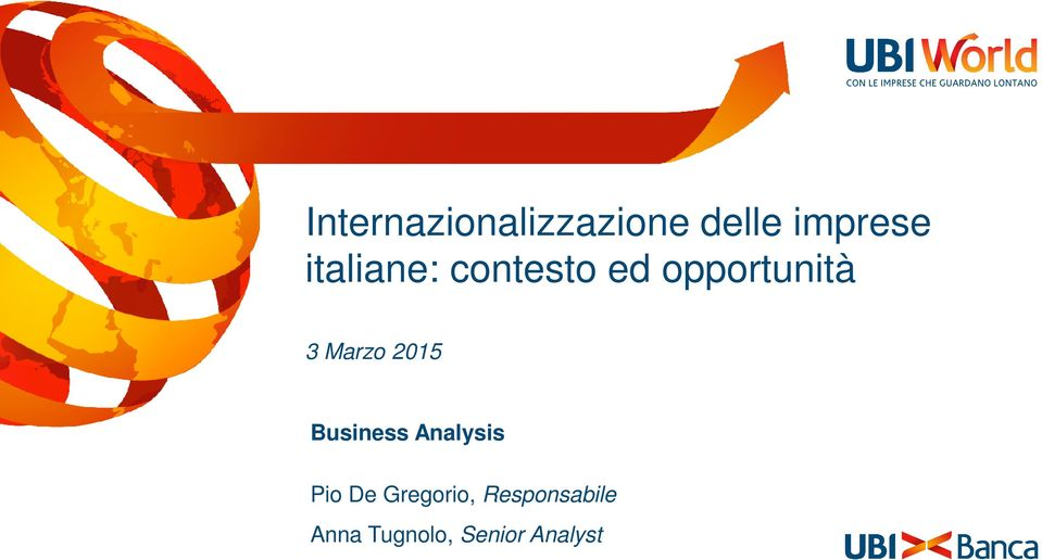 Marzo 2015 Business Analysis Pio De
