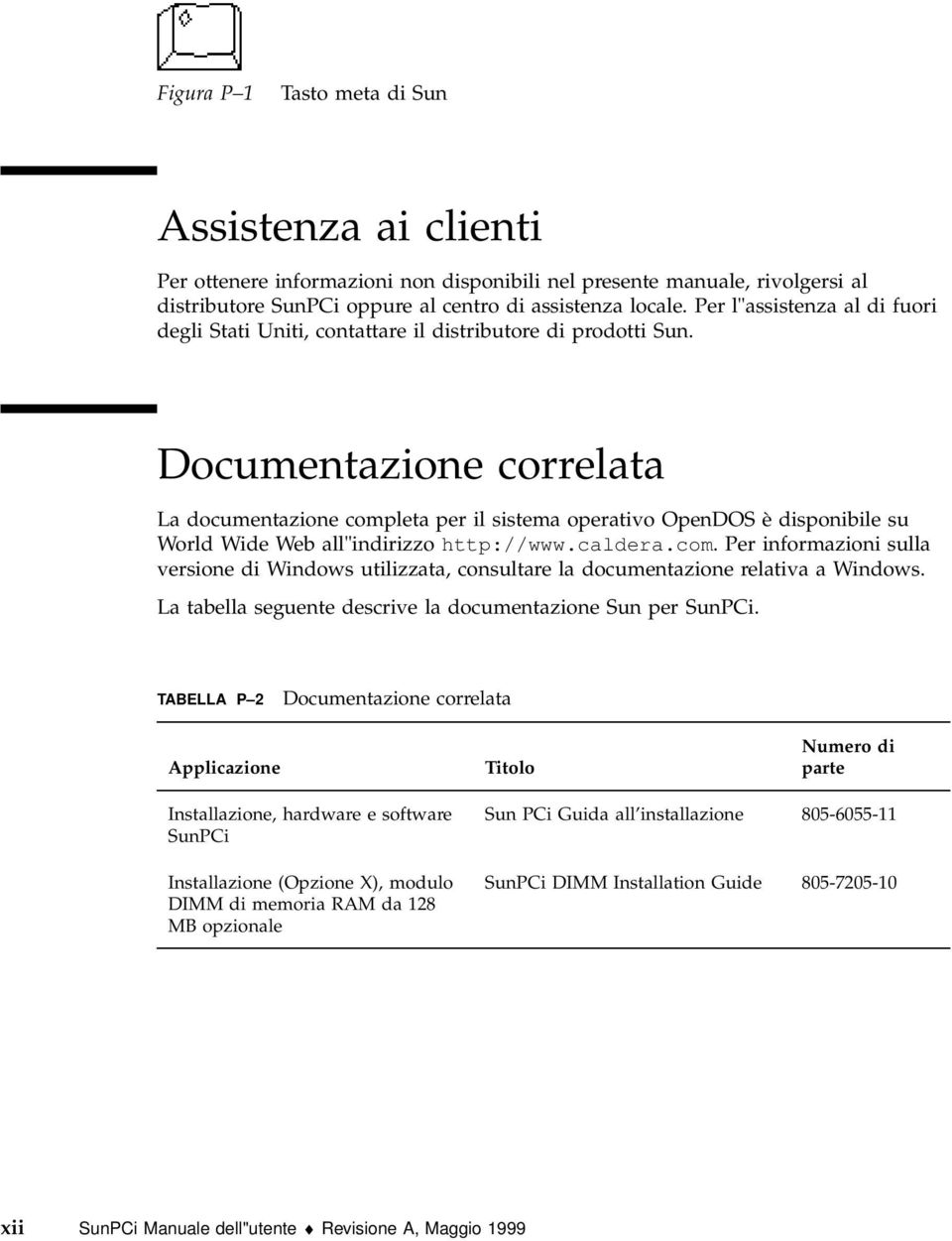 "Documentazione correlata La documentazione completa per il sistema operativo OpenDOS è disponibile su World Wide Web all""indirizzo http://www.caldera.com. Per informazioni sulla versione di Windows utilizzata, consultare la documentazione relativa a Windows."