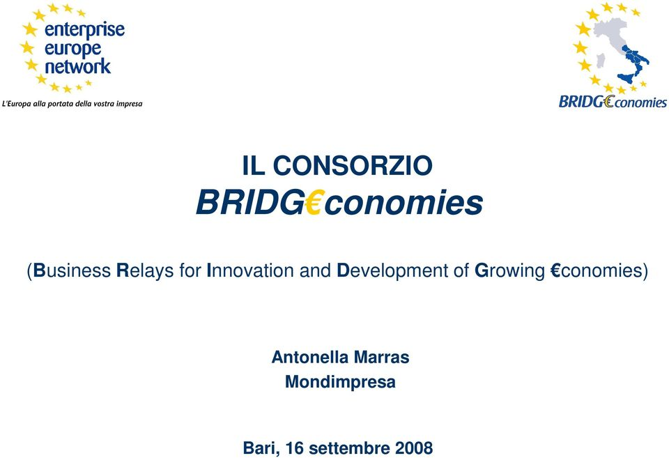 of Growing conomies) Antonella Marras