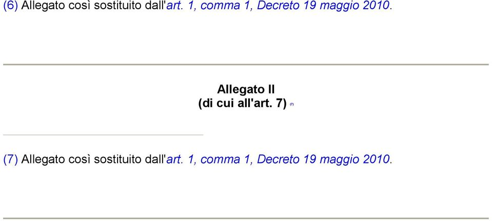 Allegato II (di cui all'art.