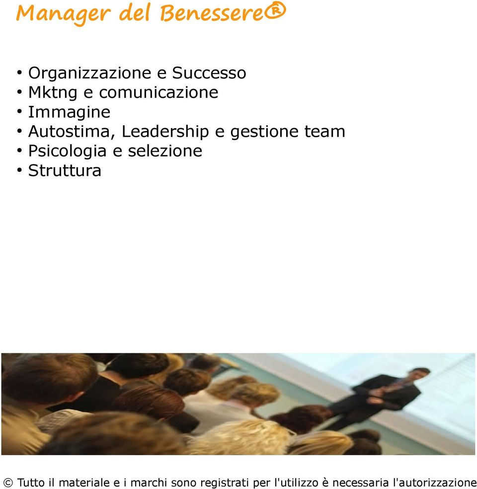 Immagine Autostima, Leadership e