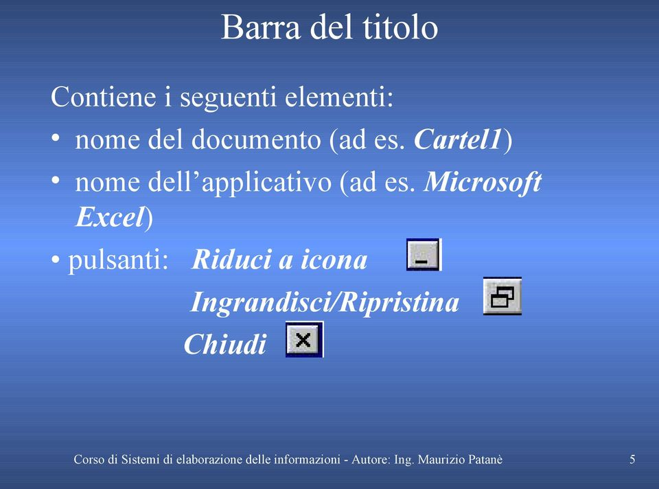 Cartel1) nome dell applicativo (ad es.