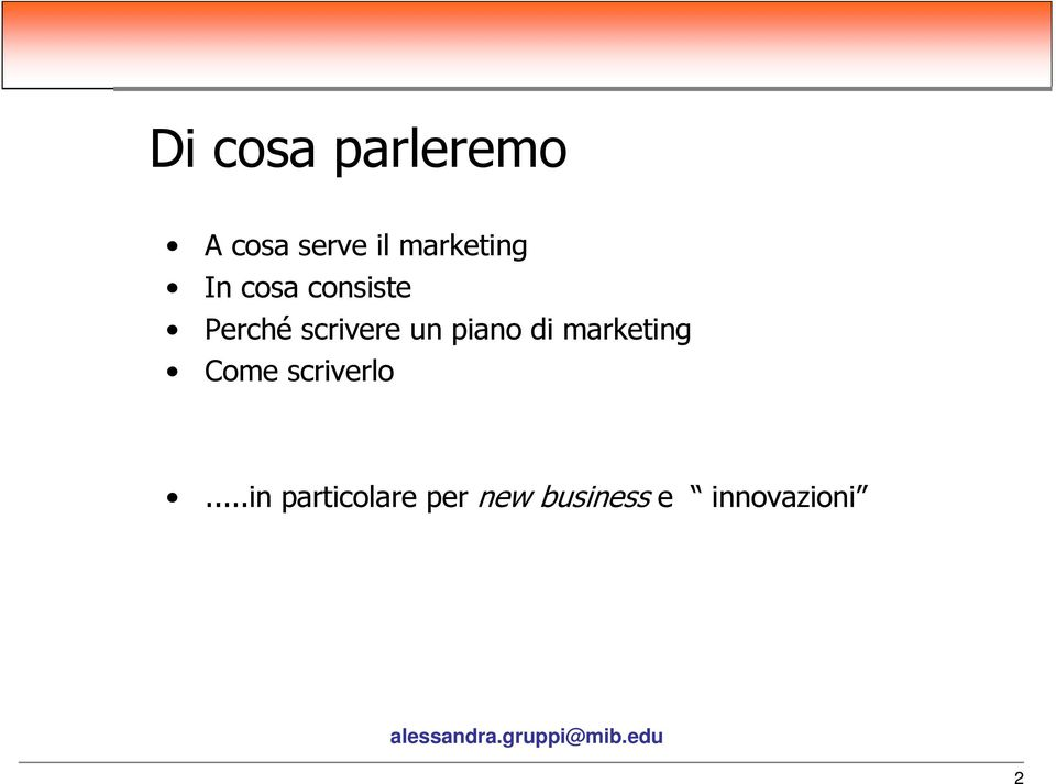scrivere un piano di marketing Come