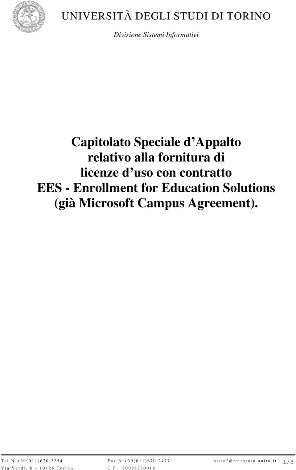 contratto EES - Enrollment for Education
