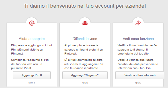 #2. PINTEREST FOR BUSINESS Lo stesso Pinterest offre, all interno