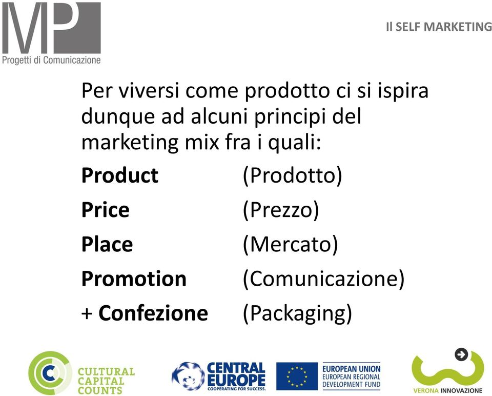 Product (Prodotto) Price Place Promotion