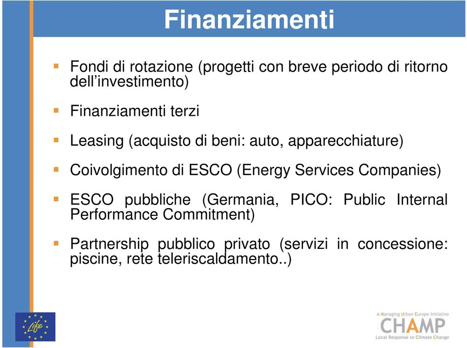 (Energy Services Companies) ESCO pubbliche (Germania, PICO: Public Internal Performance