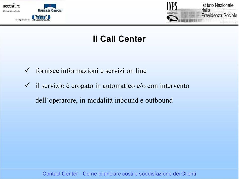 in automatico e/o con intervento dell