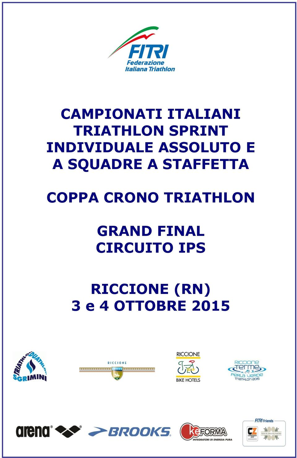 STAFFETTA COPPA CRONO TRIATHLON GRAND