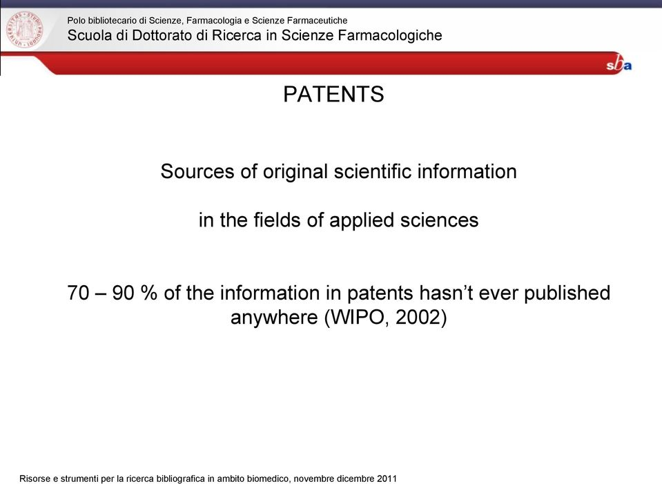 sciences 70 90 % of the information in